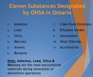 11 Ontario Designated Substances